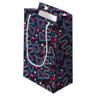 Hearts and sequins small gift bag