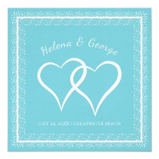 Hearts and Sparkle Custom Colour Wedding Card