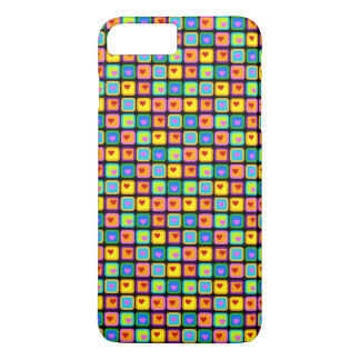 Hearts and Squares iPhone 7 Plus Case