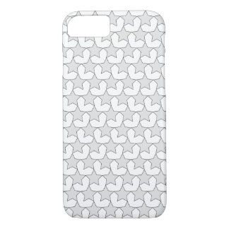 HEARTS AND STARS GREY/WHITE iPHONE 7/8 CASE