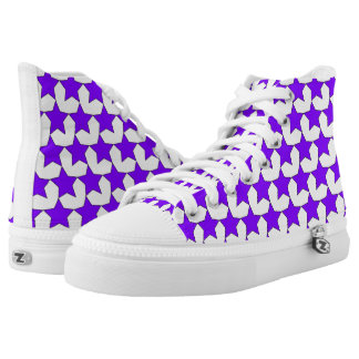 HEARTS AND STARS PURPLE/WHITE HIGH-TOP SNEAKER