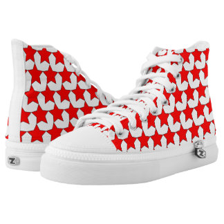 HEARTS AND STARS RED/WHITE HIGH-TOP SNEAKER