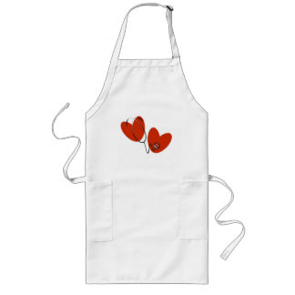 Hearts and Stethoscope Long Apron