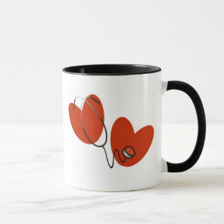Hearts and Stethoscope Mug