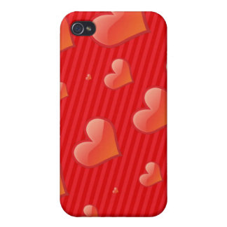 HEARTS AND STRIPES iPhone 4 CASES