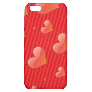 HEARTS AND STRIPES COVER FOR iPhone 5C