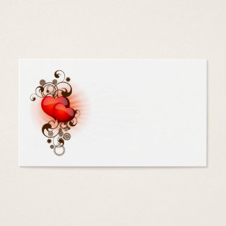 Hearts-and-Swirls Business Card
