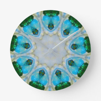 Hearts and Tears Fractal Round Clock