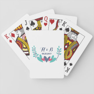 Hearts and Vines Wedding Playing Cards