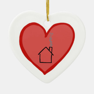 Hearts are Stronger Than Houses Ceramic Ornament