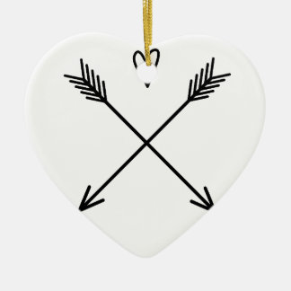 Hearts & Arrows Ceramic Heart Ornament