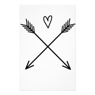 Hearts & Arrows Stationery