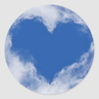 HEARTS AS CLOUDS PAPER PRODUCTS CLASSIC ROUND STICKER