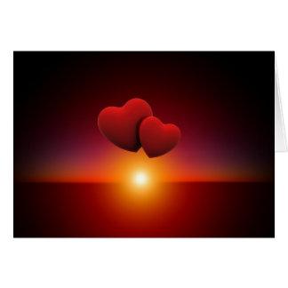 Hearts At Sunset Card