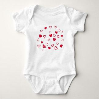 hearts baby bodysuit