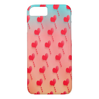 Hearts Background iPhone 7 Barely There Cases