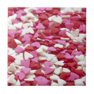 Hearts Background Red Pink White Love Valentine Tile