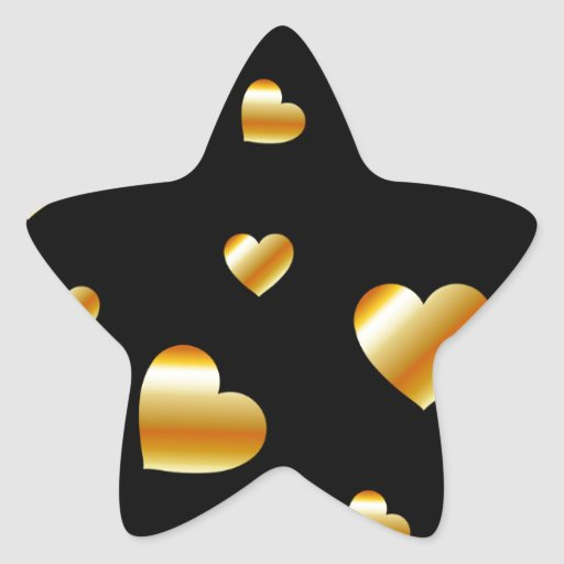 Hearts background star stickers