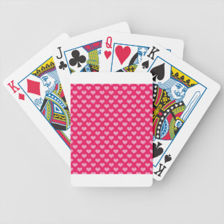 Hearts Background Wallpaper Pink Bicycle Playing Cards