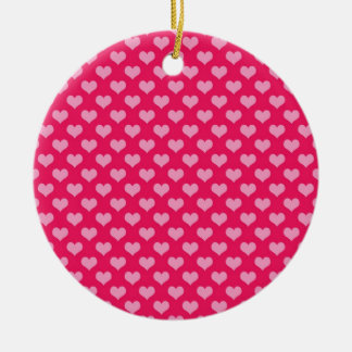 Hearts Background Wallpaper Pink Ceramic Ornament