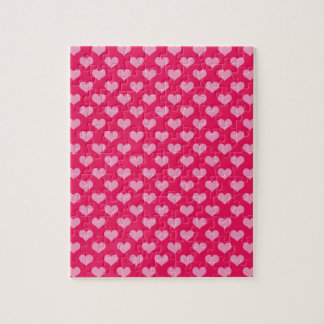 Hearts Background Wallpaper Pink Jigsaw Puzzle