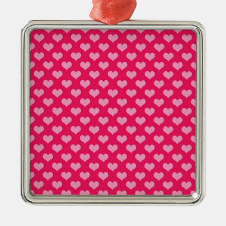 Hearts Background Wallpaper Pink Metal Ornament
