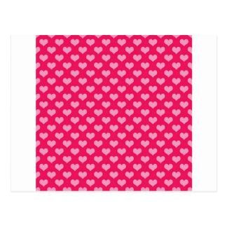 Hearts Background Wallpaper Pink Postcard