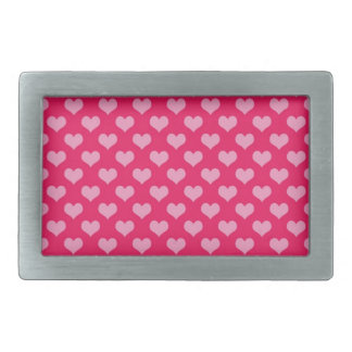Hearts Background Wallpaper Pink Rectangular Belt Buckle