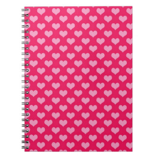 Hearts Background Wallpaper Pink Spiral Notebook