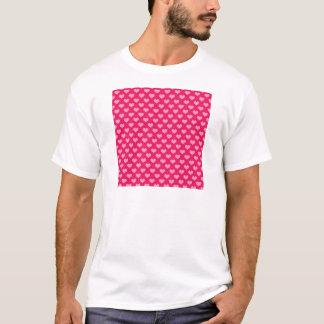 Hearts Background Wallpaper Pink T-Shirt