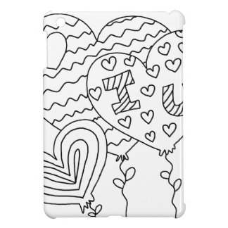 Hearts&Balloons DIY Coloring Doodle gifts Cover For The iPad Mini