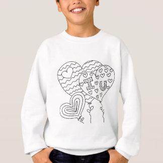 Hearts&Balloons DIY Coloring Doodle gifts Sweatshirt
