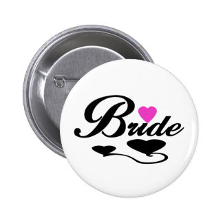 Hearts Bride T-shirts and Gifts Pinback Buttons