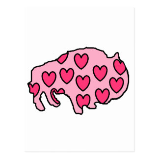 hearts bruce postcard