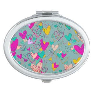 Hearts Bunch Artistic Dramatic Romantic Chic Love Travel Mirror
