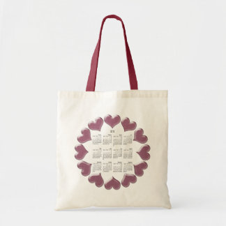 Hearts Calendar Gifts Tote Bag