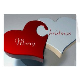 Hearts Christmas Card
