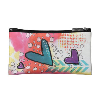 Hearts Cosmetic Bag, Soaring Hearts Bag