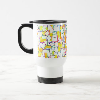 Hearts & ? ~  customizable! travel mug