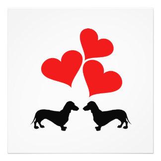 Hearts & Dachshunds Photo Print