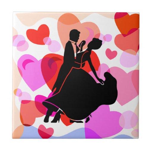 hearts dancing ceramic tiles