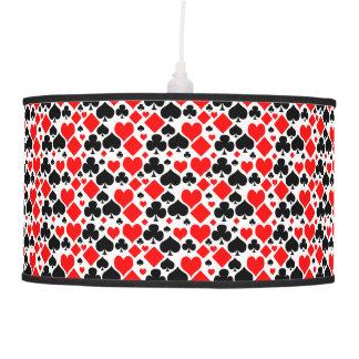 Hearts, Diamonds, Clubs & Spades Pattern Design Pendant Lamp