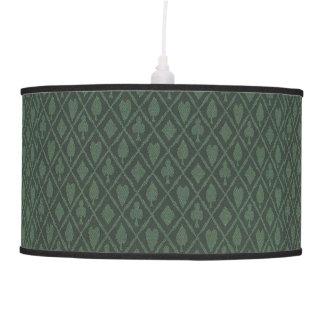 Hearts Diamonds Spades Clubs Pattern Hanging Lamp