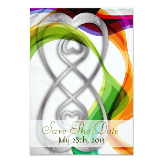 Hearts Double Infinity & Rainbow -Save The Date2 Card