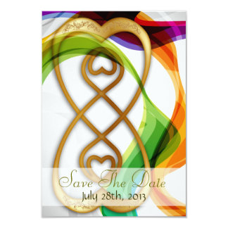 Hearts Double Infinity & Rainbow -Save The Date Card