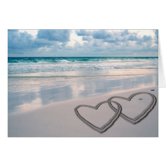 Hearts Drawn in the Sand Cards