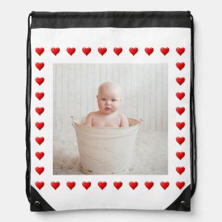 Hearts Drawstring Bag