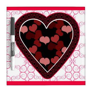 Hearts Dry Erase Board