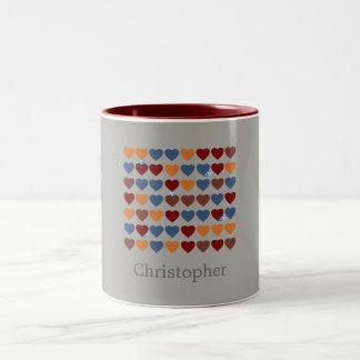 Hearts Easter Fun Two-Tone Coffee Mug