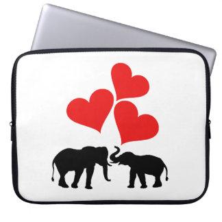 Hearts & Elephants Laptop Sleeve